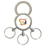 Twerk or treat - Funny Halloween design 3-Ring Key Chains Front