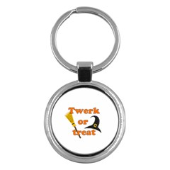 Twerk or treat - Funny Halloween design Key Chains (Round)