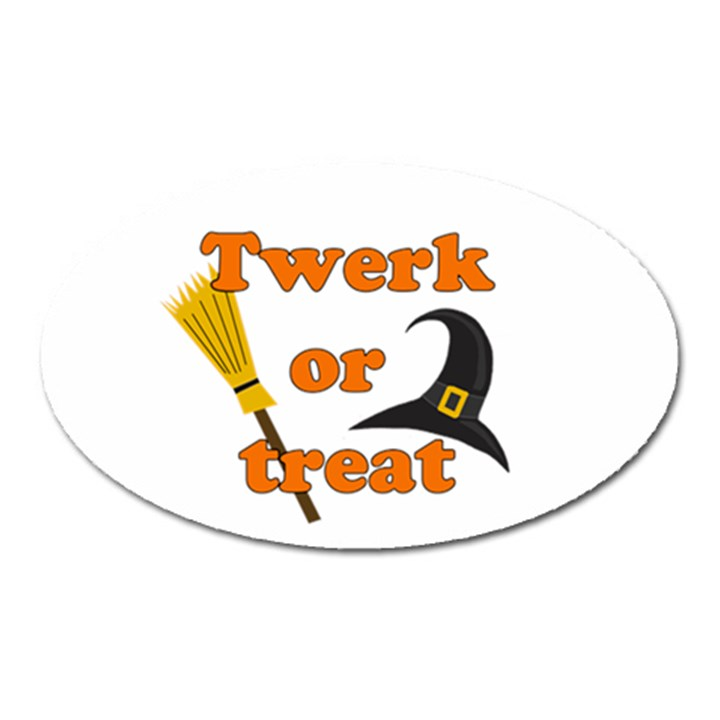 Twerk or treat - Funny Halloween design Oval Magnet
