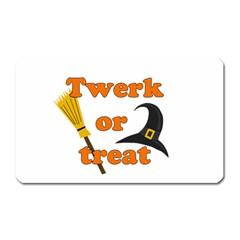 Twerk Or Treat   Funny Halloween Design Magnet (rectangular)