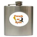Twerk or treat - Funny Halloween design Hip Flask (6 oz) Front