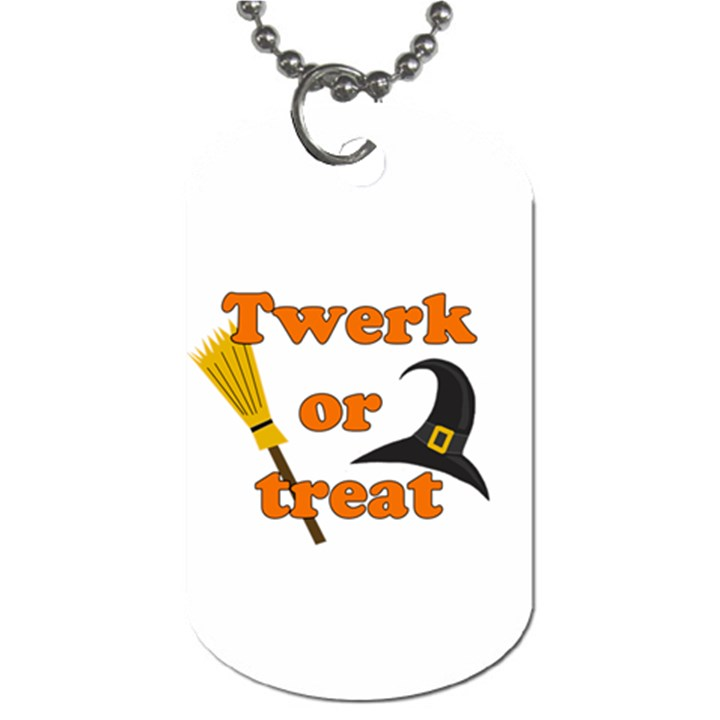 Twerk or treat - Funny Halloween design Dog Tag (Two Sides)