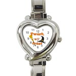 Twerk or treat - Funny Halloween design Heart Italian Charm Watch Front