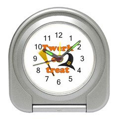 Twerk or treat - Funny Halloween design Travel Alarm Clocks