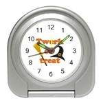 Twerk or treat - Funny Halloween design Travel Alarm Clocks Front
