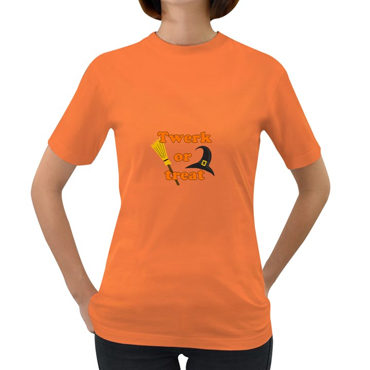 Twerk or treat - Funny Halloween design Women s Dark T-Shirt