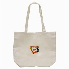 Twerk Or Treat   Funny Halloween Design Tote Bag (cream)