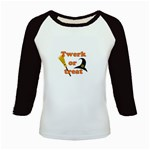 Twerk or treat - Funny Halloween design Kids Baseball Jerseys Front