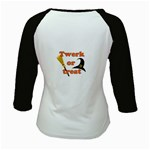 Twerk or treat - Funny Halloween design Kids Baseball Jerseys Back