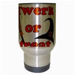 Twerk or treat - Funny Halloween design Travel Mug (Silver Gray) Center