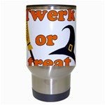 Twerk or treat - Funny Halloween design Travel Mugs (White) Center