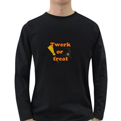 Twerk Or Treat   Funny Halloween Design Long Sleeve Dark T Shirts