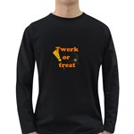 Twerk or treat - Funny Halloween design Long Sleeve Dark T-Shirts Front