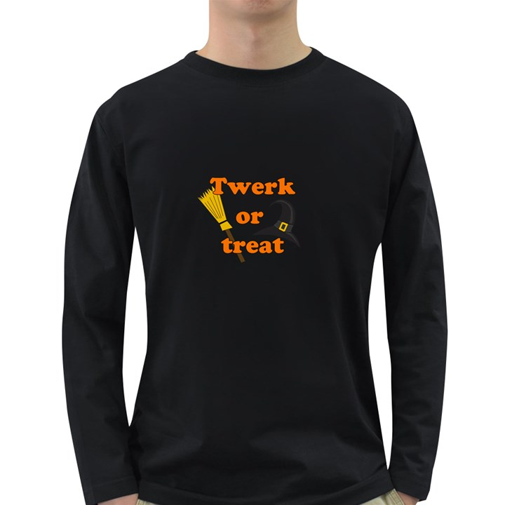 Twerk or treat - Funny Halloween design Long Sleeve Dark T-Shirts