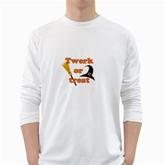 Twerk Or Treat   Funny Halloween Design White Long Sleeve T Shirts