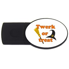 Twerk or treat - Funny Halloween design USB Flash Drive Oval (4 GB)