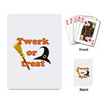 Twerk or treat - Funny Halloween design Playing Card Back