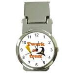 Twerk or treat - Funny Halloween design Money Clip Watches Front