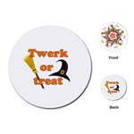 Twerk or treat - Funny Halloween design Playing Cards (Round)  Front
