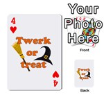 Twerk or treat - Funny Halloween design Playing Cards 54 Designs  Front - Heart4
