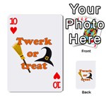 Twerk or treat - Funny Halloween design Playing Cards 54 Designs  Front - Heart10