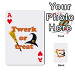 Twerk or treat - Funny Halloween design Playing Cards 54 Designs  Front - HeartA