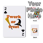 Twerk or treat - Funny Halloween design Playing Cards 54 Designs  Front - Club2