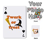 Twerk or treat - Funny Halloween design Playing Cards 54 Designs  Front - Spade7