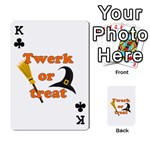 Twerk or treat - Funny Halloween design Playing Cards 54 Designs  Front - ClubK