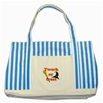 Twerk or treat - Funny Halloween design Striped Blue Tote Bag Front