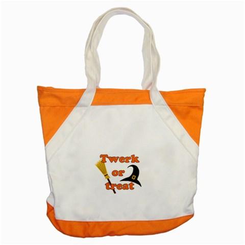 Twerk or treat - Funny Halloween design Accent Tote Bag