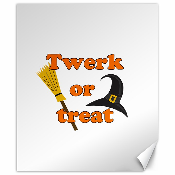 Twerk or treat - Funny Halloween design Canvas 8  x 10