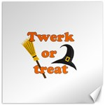 Twerk or treat - Funny Halloween design Canvas 12  x 12   12 x12 Canvas - 1