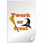 Twerk or treat - Funny Halloween design Canvas 20  x 30   30 x20 Canvas - 1