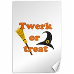 Twerk or treat - Funny Halloween design Canvas 24  x 36  36 x24 Canvas - 1