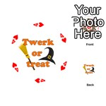 Twerk or treat - Funny Halloween design Playing Cards 54 (Round)  Front - Heart4