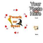 Twerk or treat - Funny Halloween design Playing Cards 54 (Round)  Front - Heart7