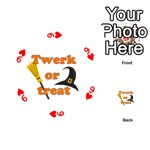 Twerk or treat - Funny Halloween design Playing Cards 54 (Round)  Front - Heart9