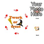Twerk or treat - Funny Halloween design Playing Cards 54 (Round)  Front - HeartJ