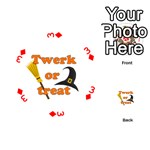 Twerk or treat - Funny Halloween design Playing Cards 54 (Round)  Front - Diamond3