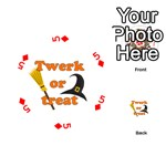 Twerk or treat - Funny Halloween design Playing Cards 54 (Round)  Front - Diamond5