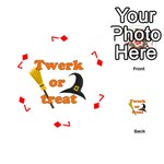 Twerk or treat - Funny Halloween design Playing Cards 54 (Round)  Front - Diamond7