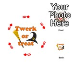 Twerk or treat - Funny Halloween design Playing Cards 54 (Round)  Front - Diamond8