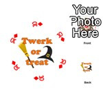 Twerk or treat - Funny Halloween design Playing Cards 54 (Round)  Front - Diamond10