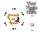 Twerk or treat - Funny Halloween design Playing Cards 54 (Round)  Front - Club9