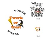 Twerk or treat - Funny Halloween design Playing Cards 54 (Round)  Front - Joker1