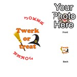Twerk or treat - Funny Halloween design Playing Cards 54 (Round)  Front - Joker2