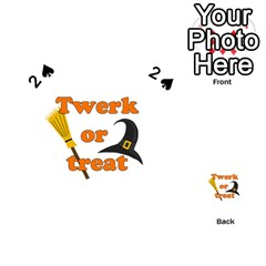 Twerk Or Treat   Funny Halloween Design Playing Cards 54 (heart)