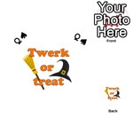 Twerk or treat - Funny Halloween design Playing Cards 54 (Heart)  Front - SpadeQ