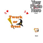 Twerk or treat - Funny Halloween design Playing Cards 54 (Heart)  Front - Heart5